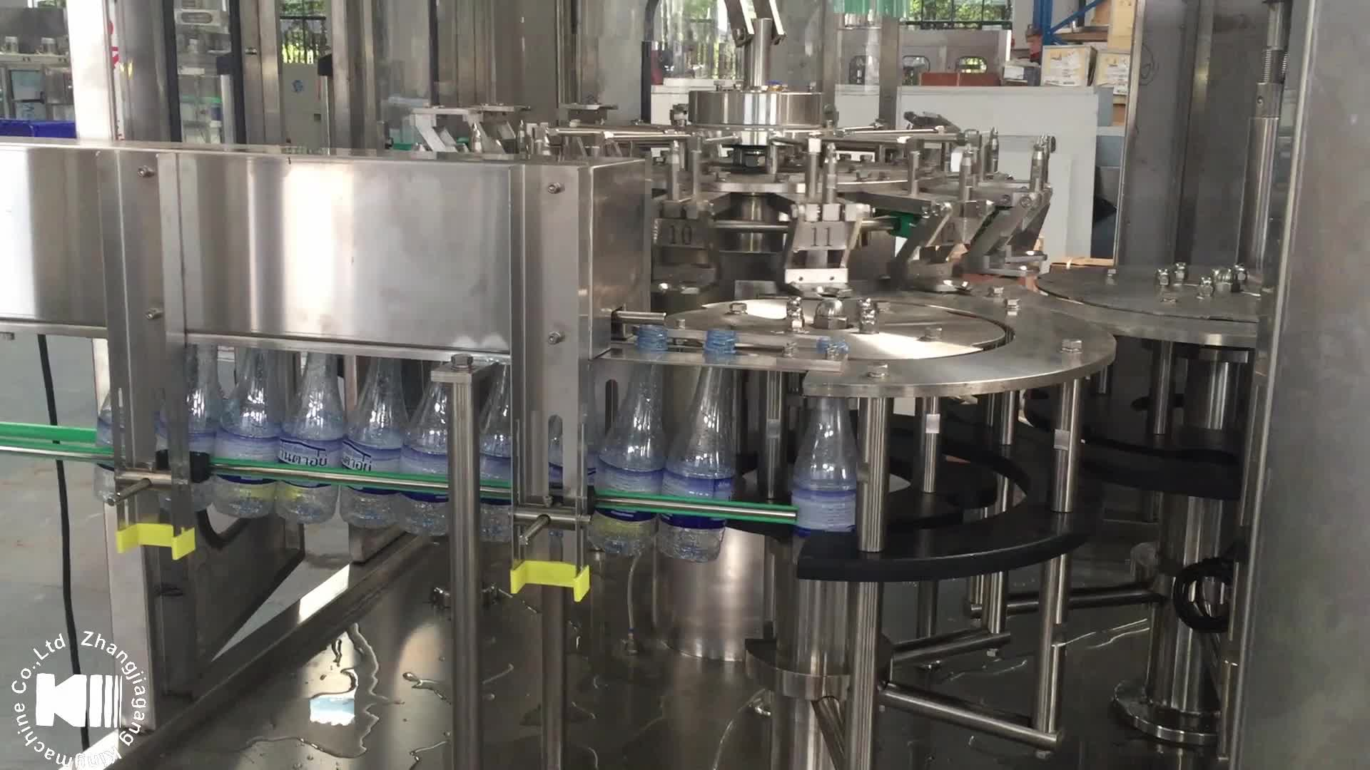 Automatic plastic bottle mineral water filling machine