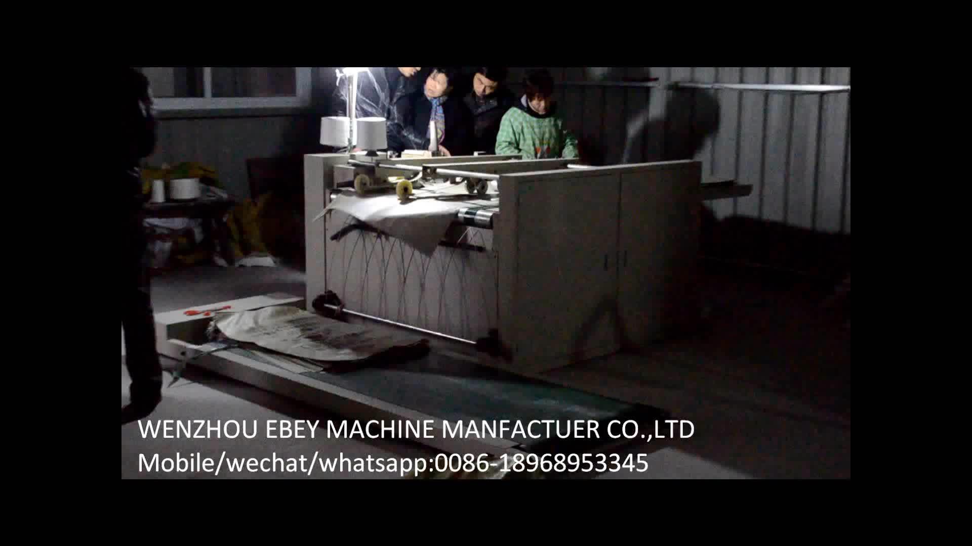 Automático máquina de costura para tecido pp saco de arroz tecido pp inferior