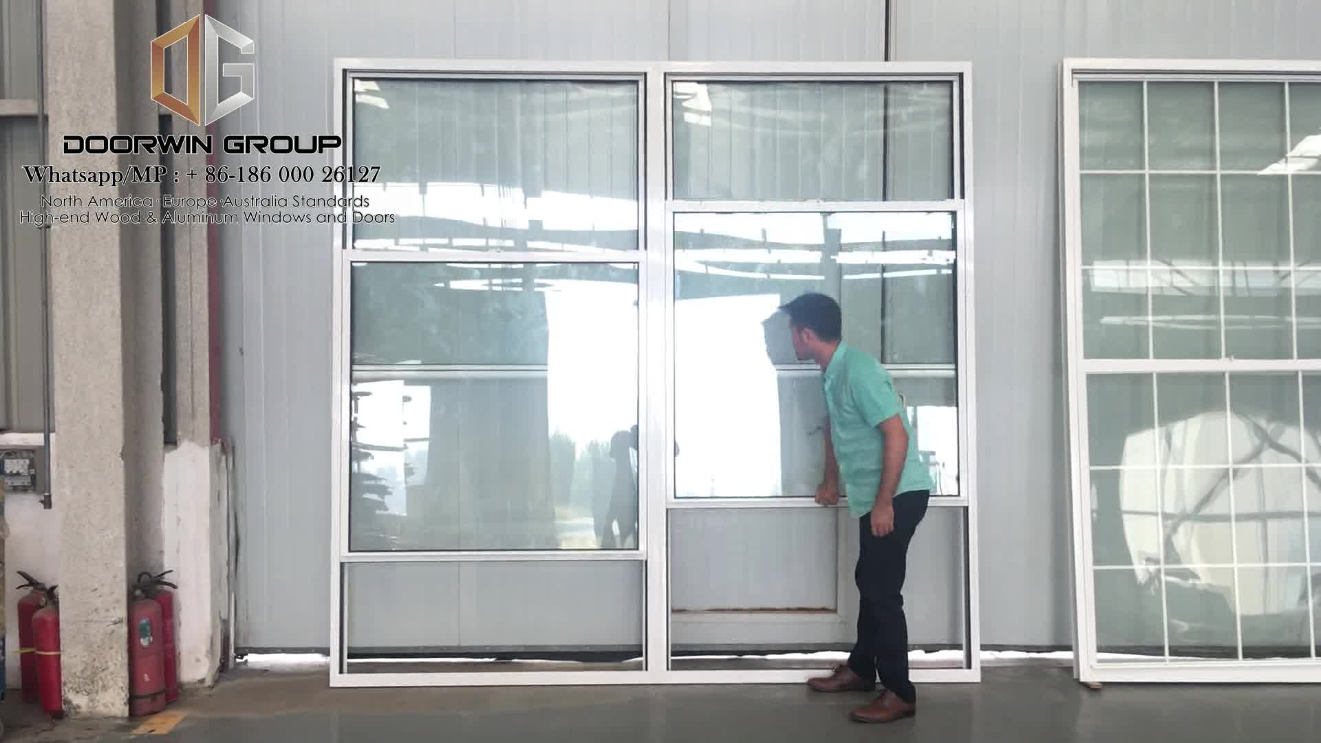 Ultra large double hung with grill designs aluminium for Vertical sliding window design