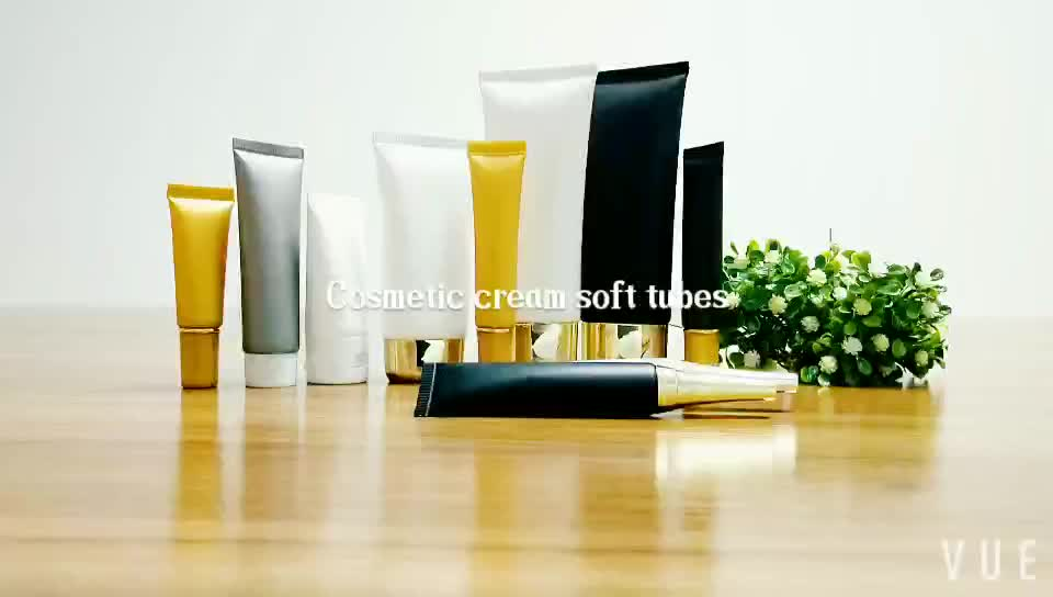 Empty 50ml 100ml hand cream clear frosted tube packaging plastic squeeze tube cosmetic