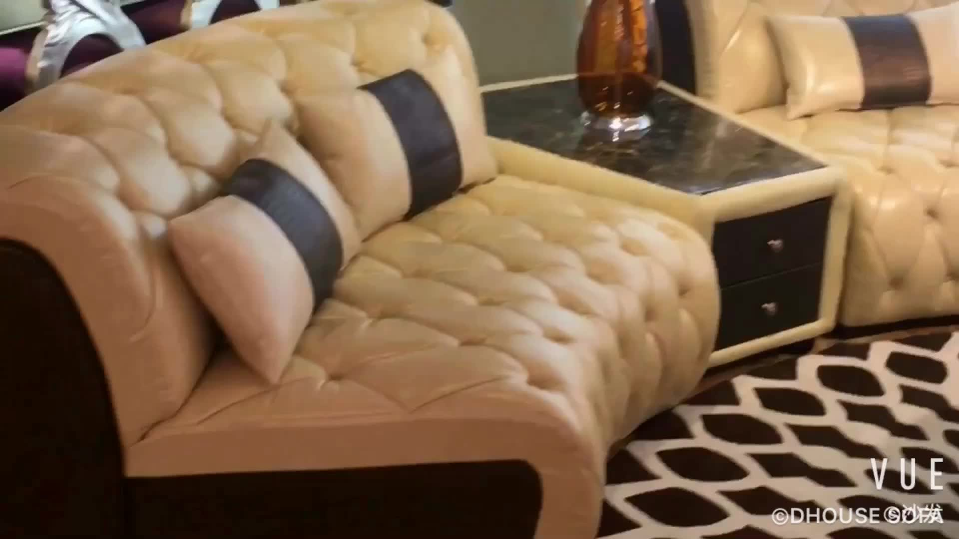 Middle East Dubai Livingroom Furniture Classic Chesterfield Fabric