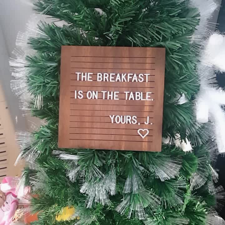2018 NEUE dunkle Nussbaum Letterboard Brief Bord 12 x 12 Zoll aus Holz Kunsthandwerk Nachricht Brief Bord Dekoration