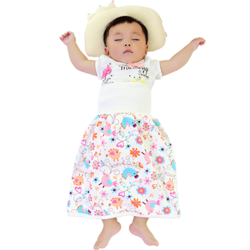 宝宝隔尿裙防水大号防漏尿纯棉