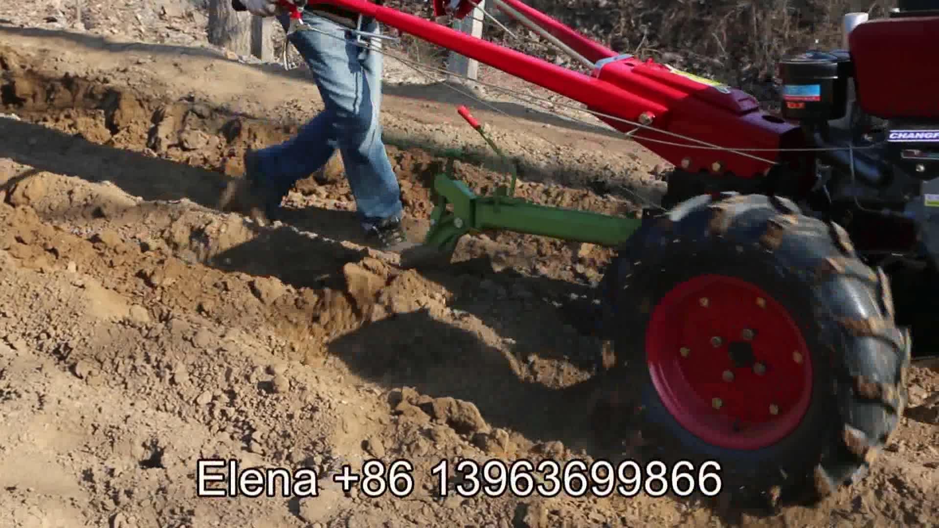 LUKE andando andar trator sulco disco rotativo reversível solo plough plow máquina equipamentos preço para andar trator de mão