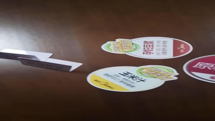 2018 trade show uv print high quality die cut pvc hang tag for goods advertising sign