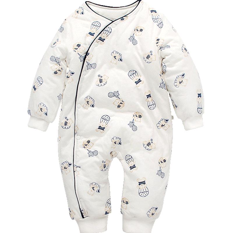 婴儿连体衣秋冬装纯棉加厚新生儿婴儿衣服0岁1初生婴幼儿保暖棉衣