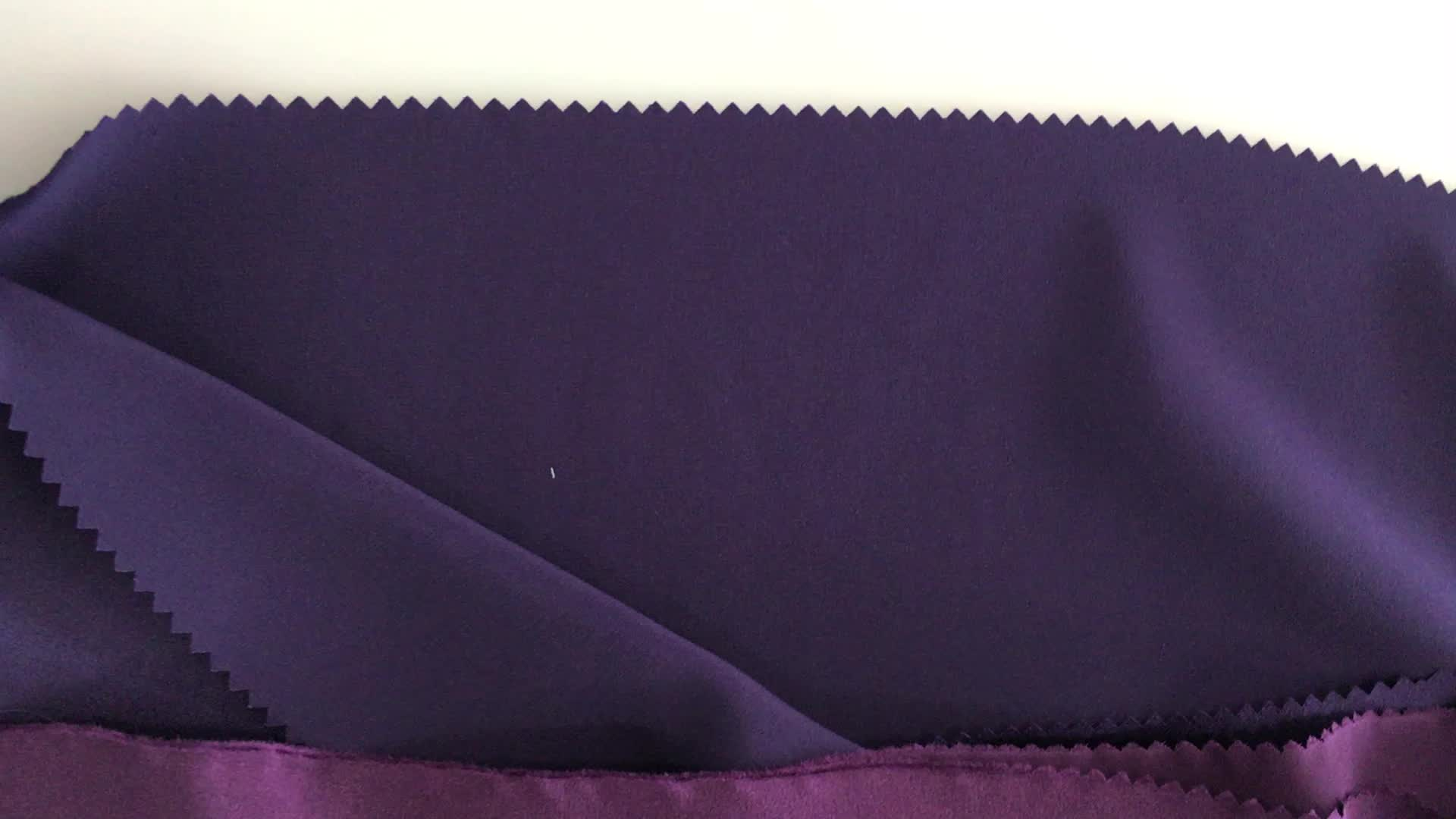 Solid dyed 100% silk satin pure silk fabric