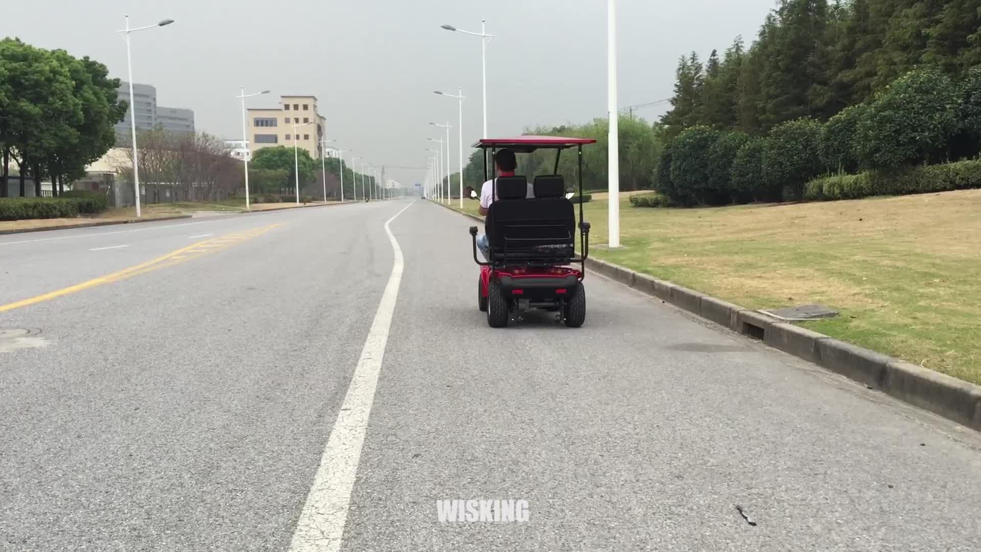 4 عجلات مزدوجة مقعد سكوتر الفاخرة الثقيلة في الهواء الطلق التنقل سكوتر كهربائي
