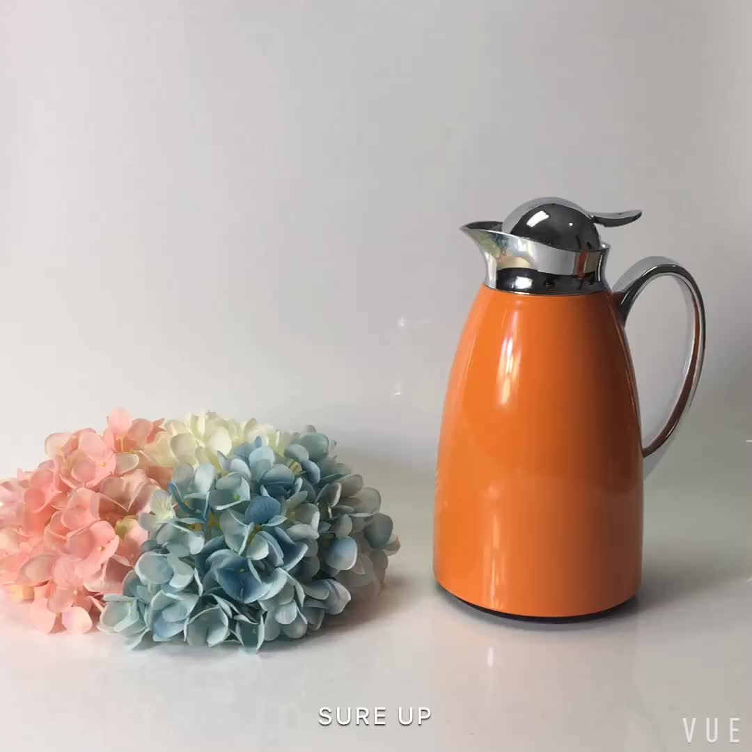 Double wall vacuum glass inner thermos coffee tea pot jug water dispenser server