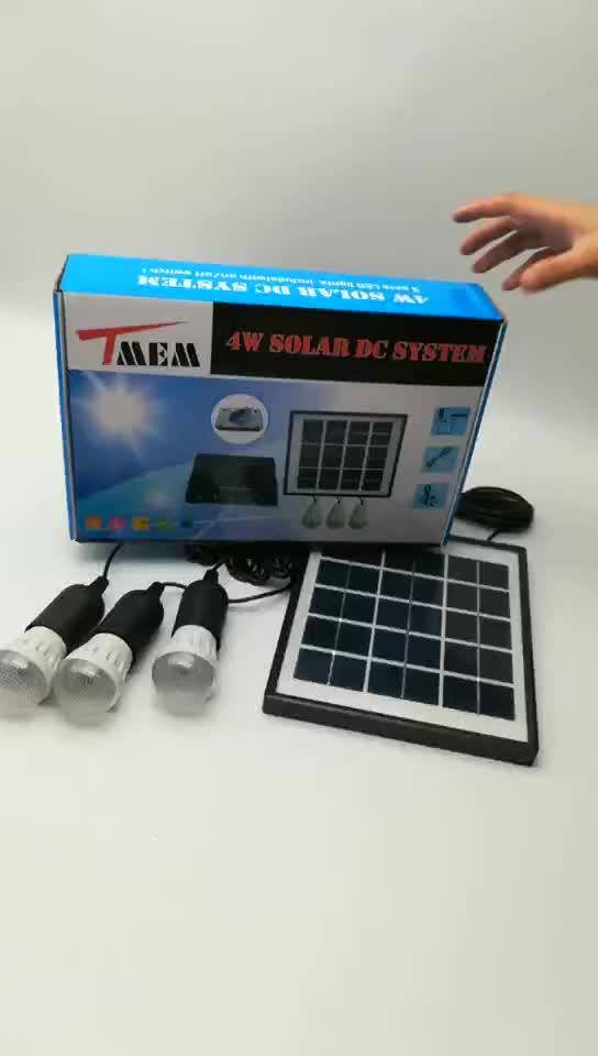 Small Solar Power System Kit For Home Camping Using Solar
