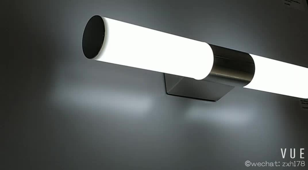 8w Stainless Steel Bathroom Mirror Light IP44 With CE ROSH 3C