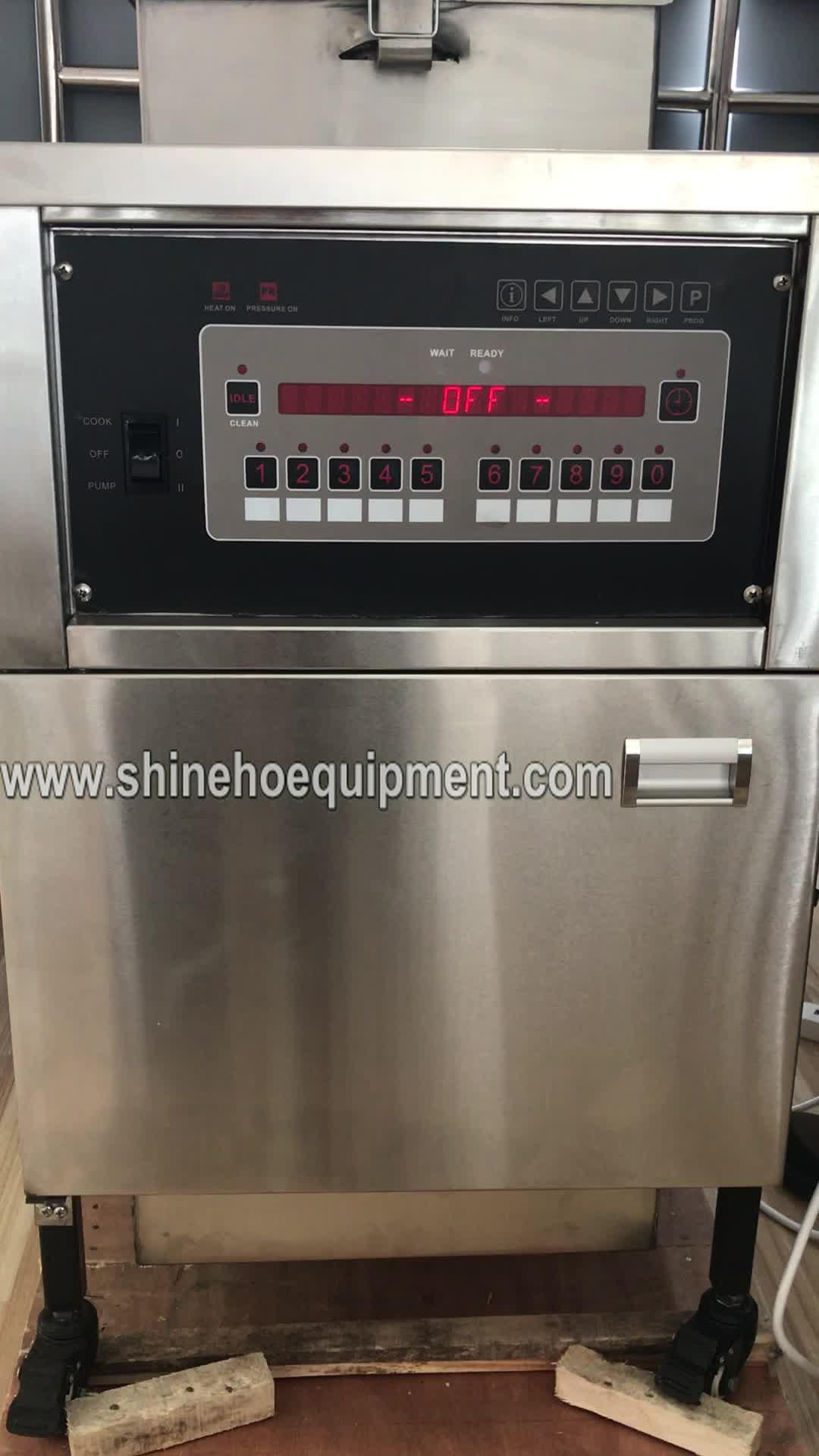 P007 máquina de pollo asado/henny penny freidora a presión/kfc máquina de freír pollo