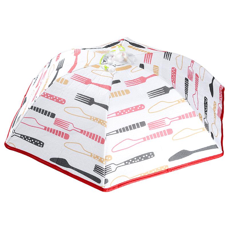 家用保温盖菜罩食物防苍蝇饭罩子饭菜防尘罩遮菜伞可折叠餐桌罩子