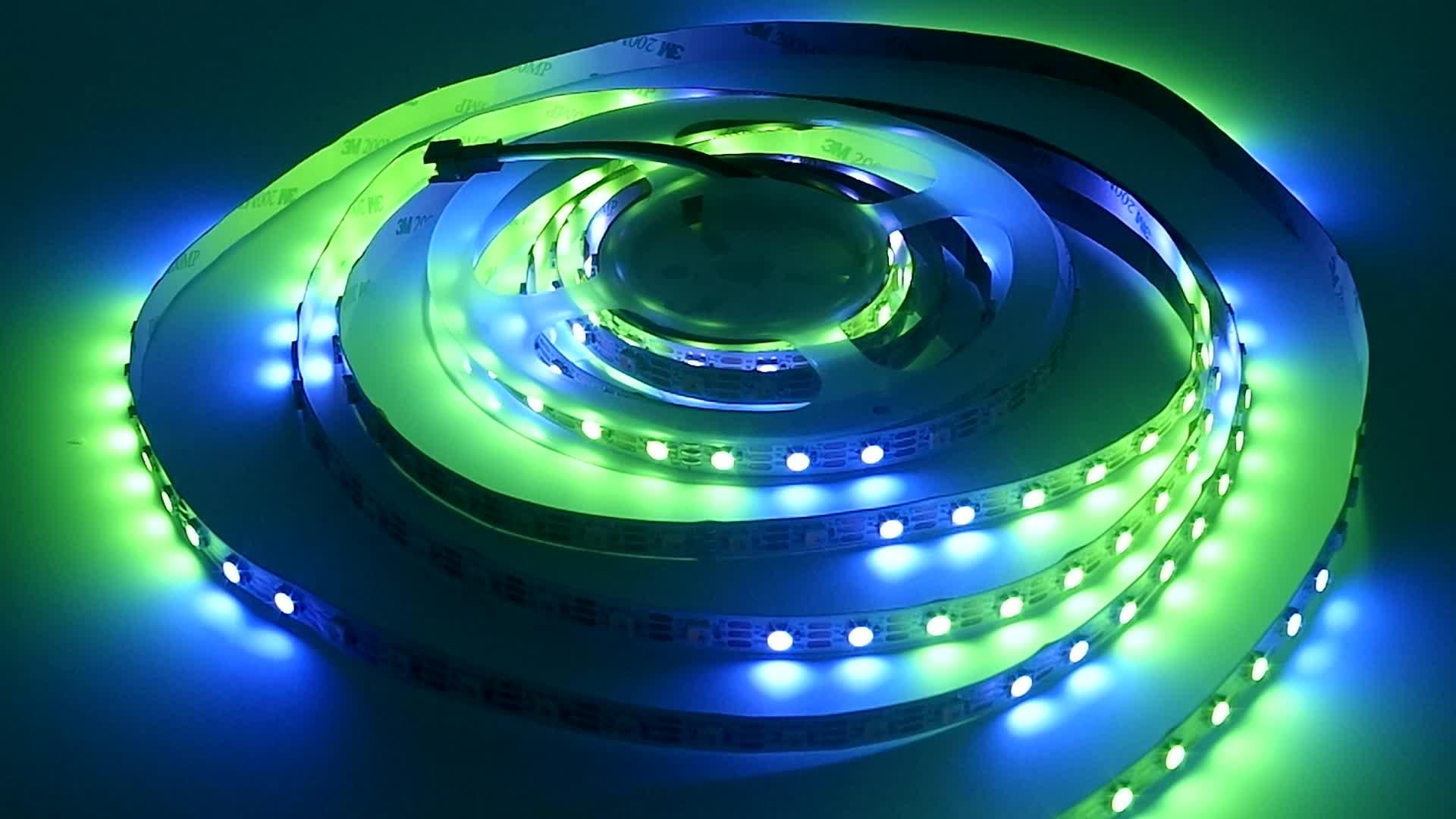 RGB Magic color DC5V addressable ws2812 30 pixels sk6812 led strip light RGB Full color ws2812b
