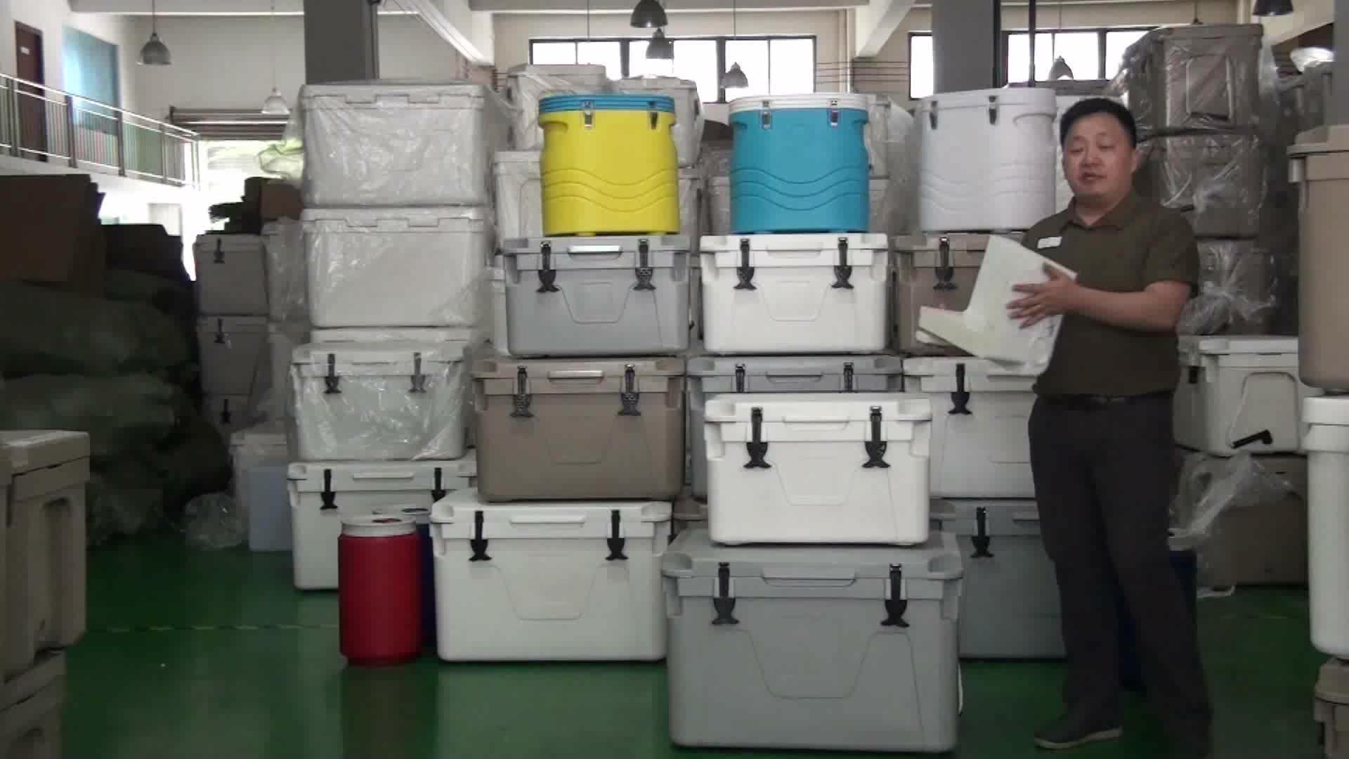 Rotomolding Balıkçılık için Yalıtımlı Plastik Buz Soğutucu Kutusu