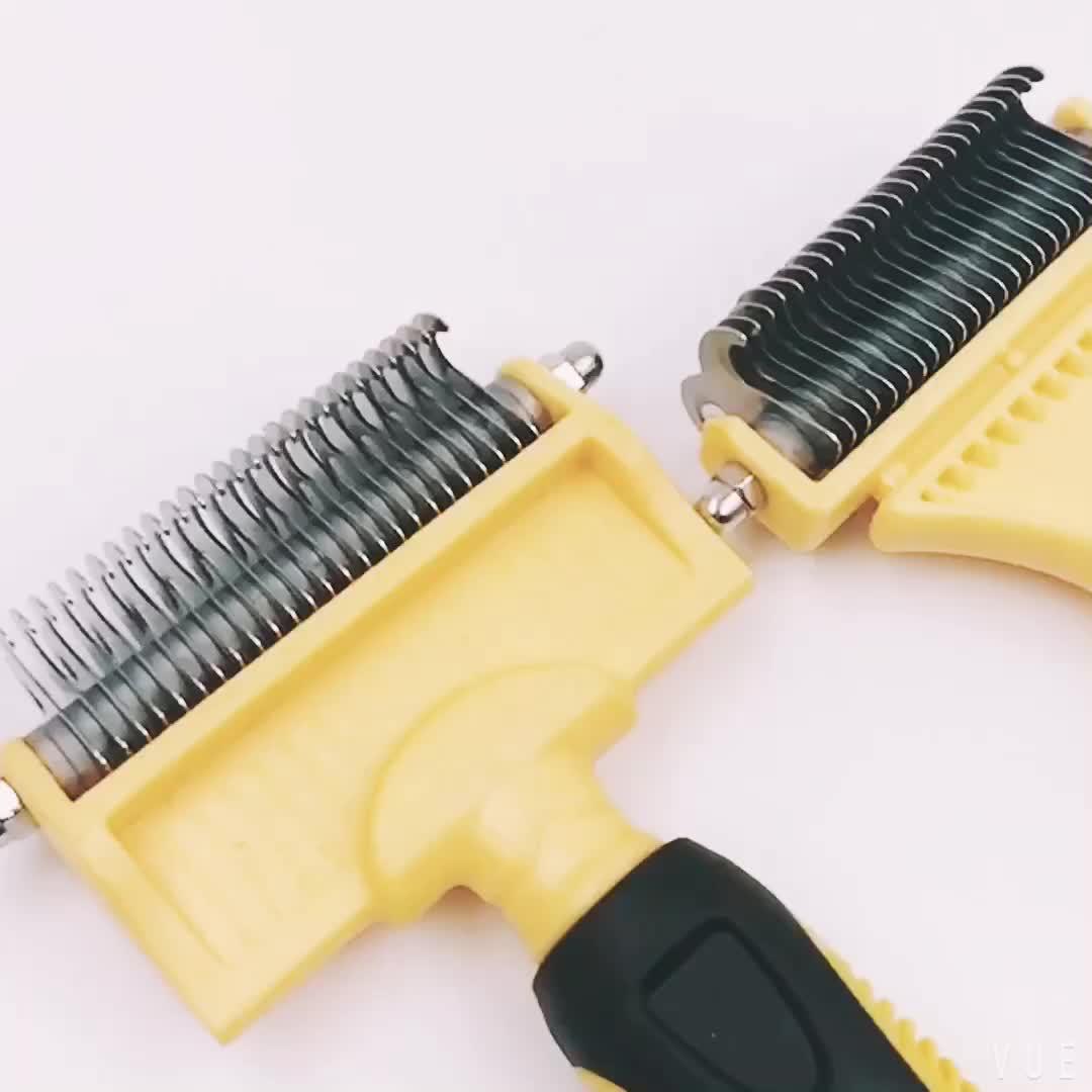 Hot Sale Pet Dmatting Tool Dog Dematting Rake Brush