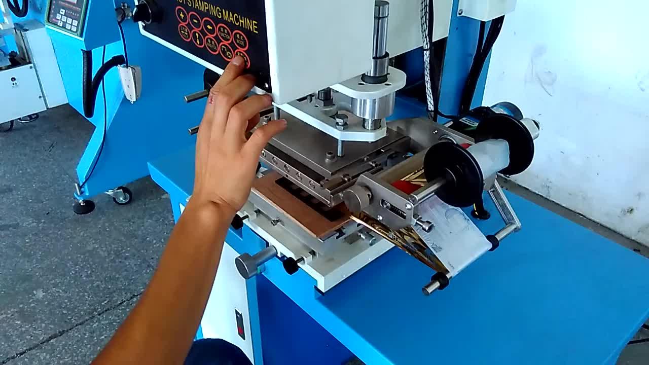 Pneumatique plat surface en cuir chaleur presse dorure à chaud machine