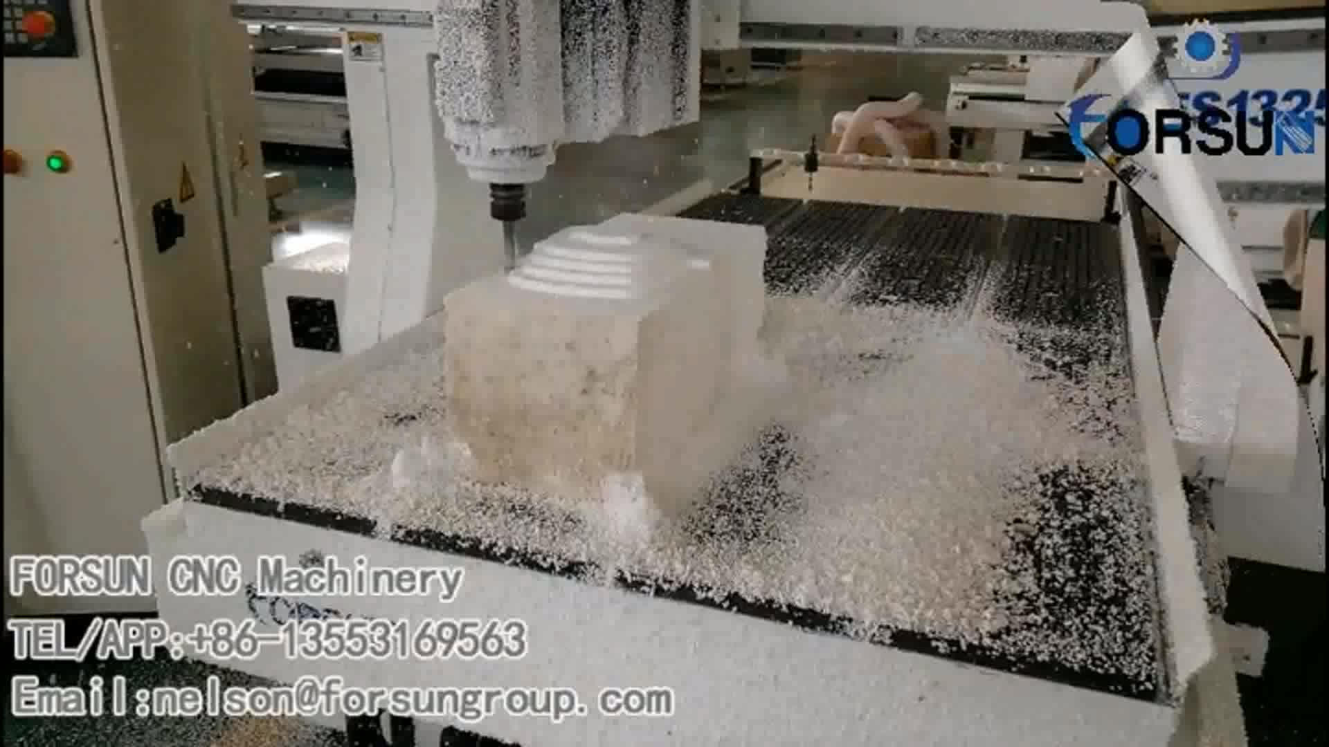 4 axis ATC 1325 cnc router aluminum machining center milling machine kit for mdf curved mold making