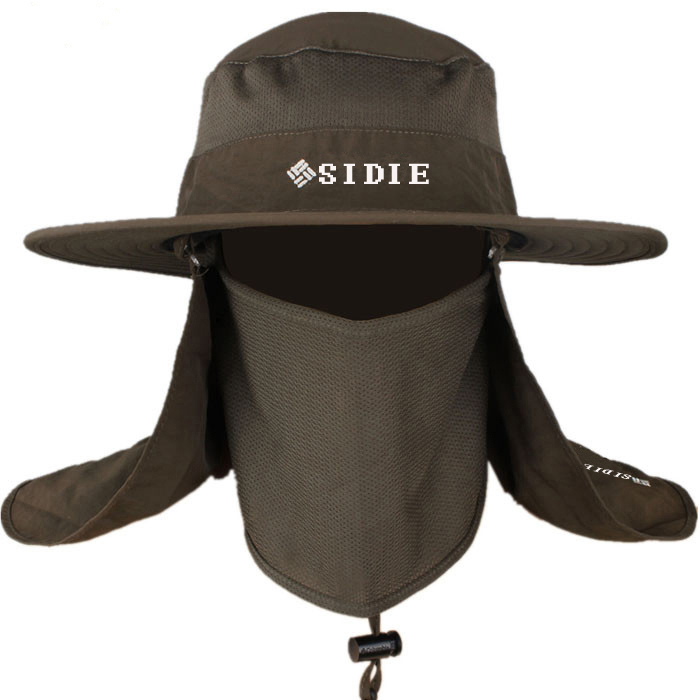 遮阳帽夏季男士钓鱼帽户外骑车防晒帽子遮脸防紫外线渔夫帽太阳帽