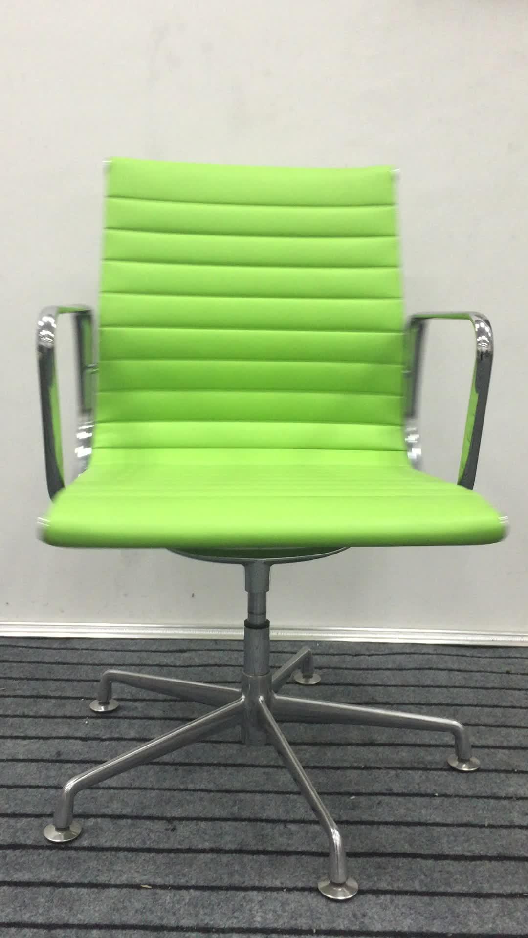 2019 orange PU büro swivel treffen stuhl für tagungsraum