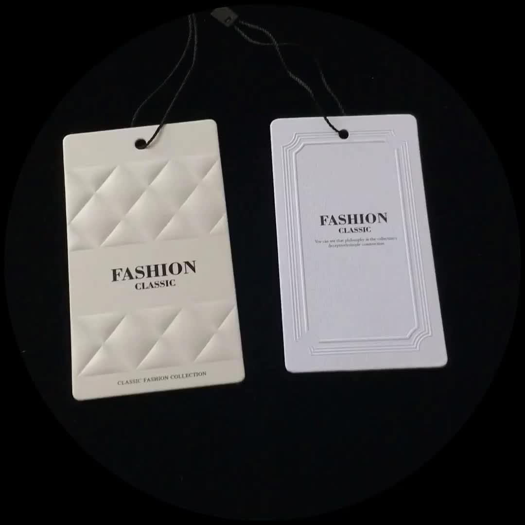 Garantía de Comercio de blanco 2 unidades etiqueta con cuerda para línea de ropa