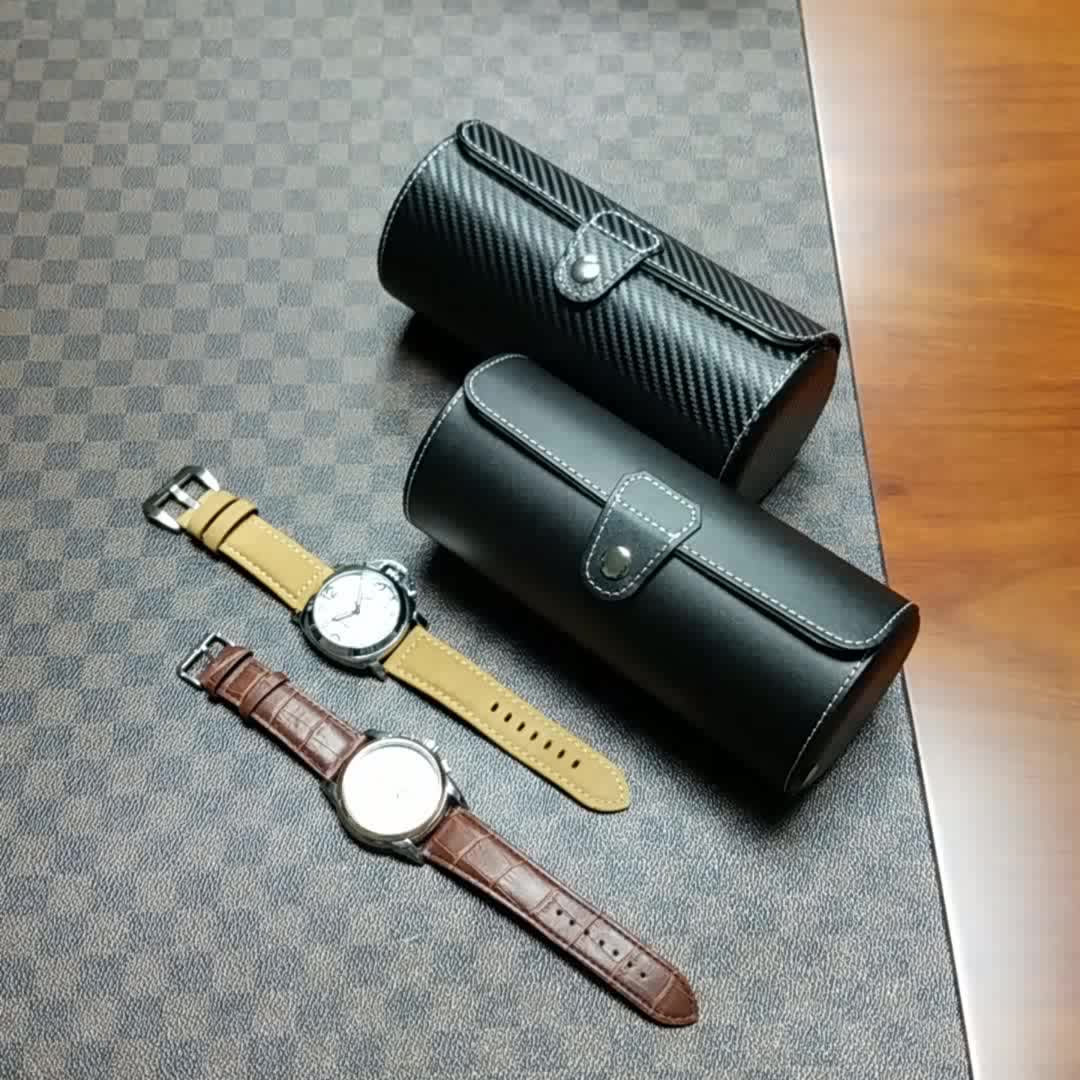 Ready Stock Alligator Line Genuine Leather Travel Watch Roll Case