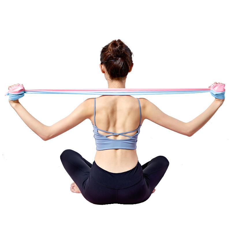 瑜伽弹力带健身女瘦拉力带伸展带拉伸运动翘臀练肩膀开背部阻力带