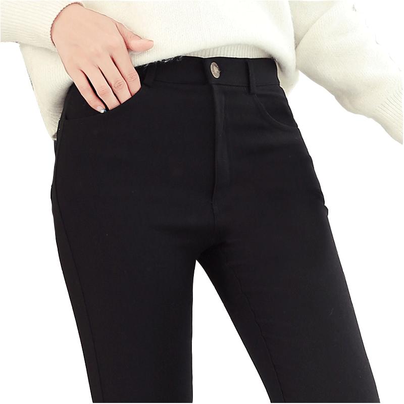 黑色外穿打底裤女秋冬加厚铅笔裤2019新款高腰加绒显瘦紧身小脚裤