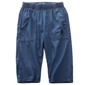 男童牛仔儿童七分裤薄款潮夏季裤子