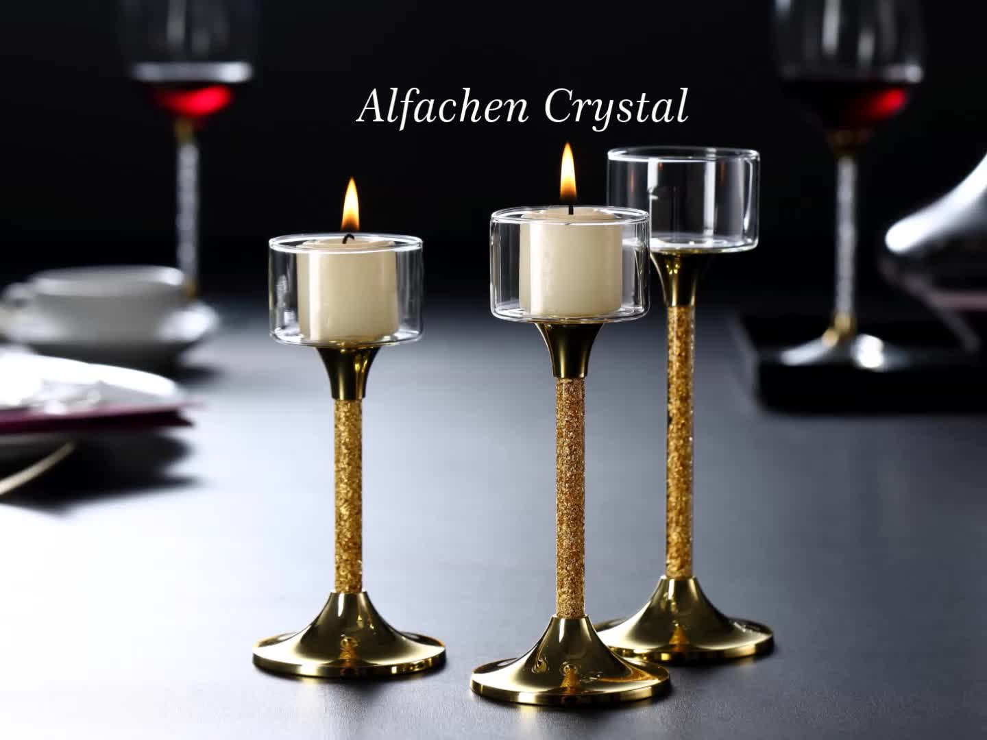 Glass Candlestick Wedding Decoration Atmosphere Table Candle Holders