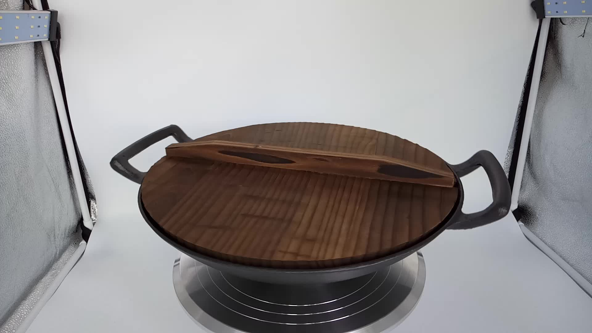 cast iron cookware wok set