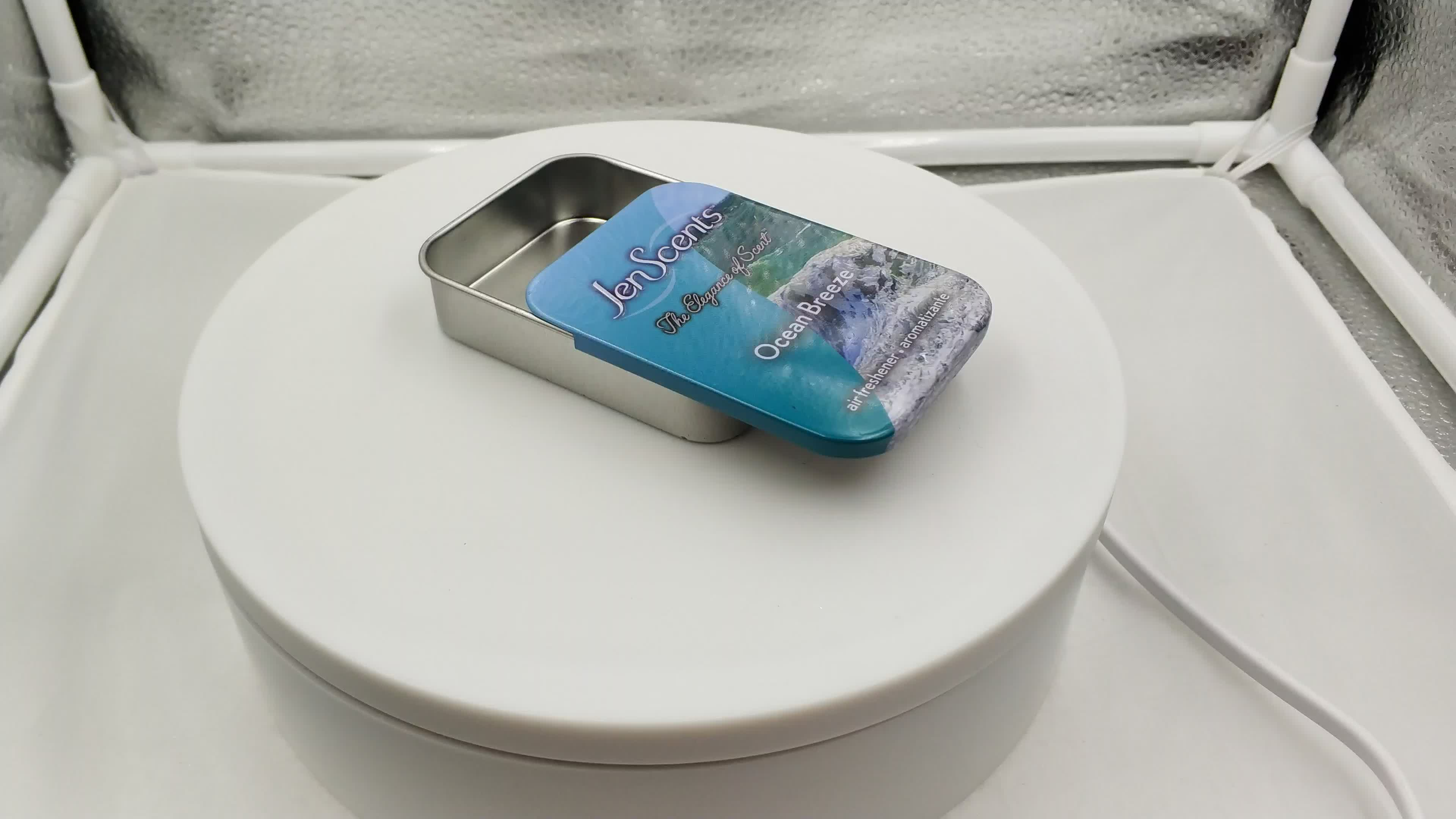 Mint Candy Tin Box With Sliding Lid Professional Tin Can Manufacturer Custom Printed Tin Candy Box