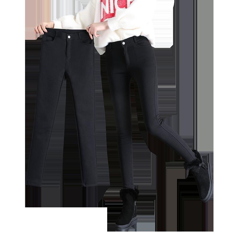 黑色魔术打底裤女裤外穿加绒百搭2019新款高腰小脚紧身显瘦春秋冬