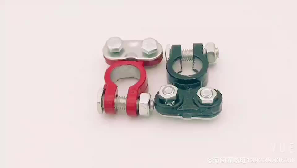 High quality red and black auto lead alloy battery cable terminal connector