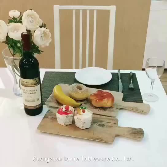 The Latest Double Color Melamine Cheese Board with Handle Flat Oak Wooden Serving Plate & The Latest Double Color Melamine Cheese Board With Handle Flat Oak ...