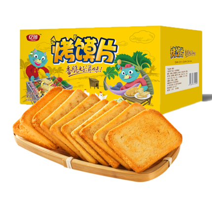 亿鸣烤香馒头片整箱非油炸早餐饼干