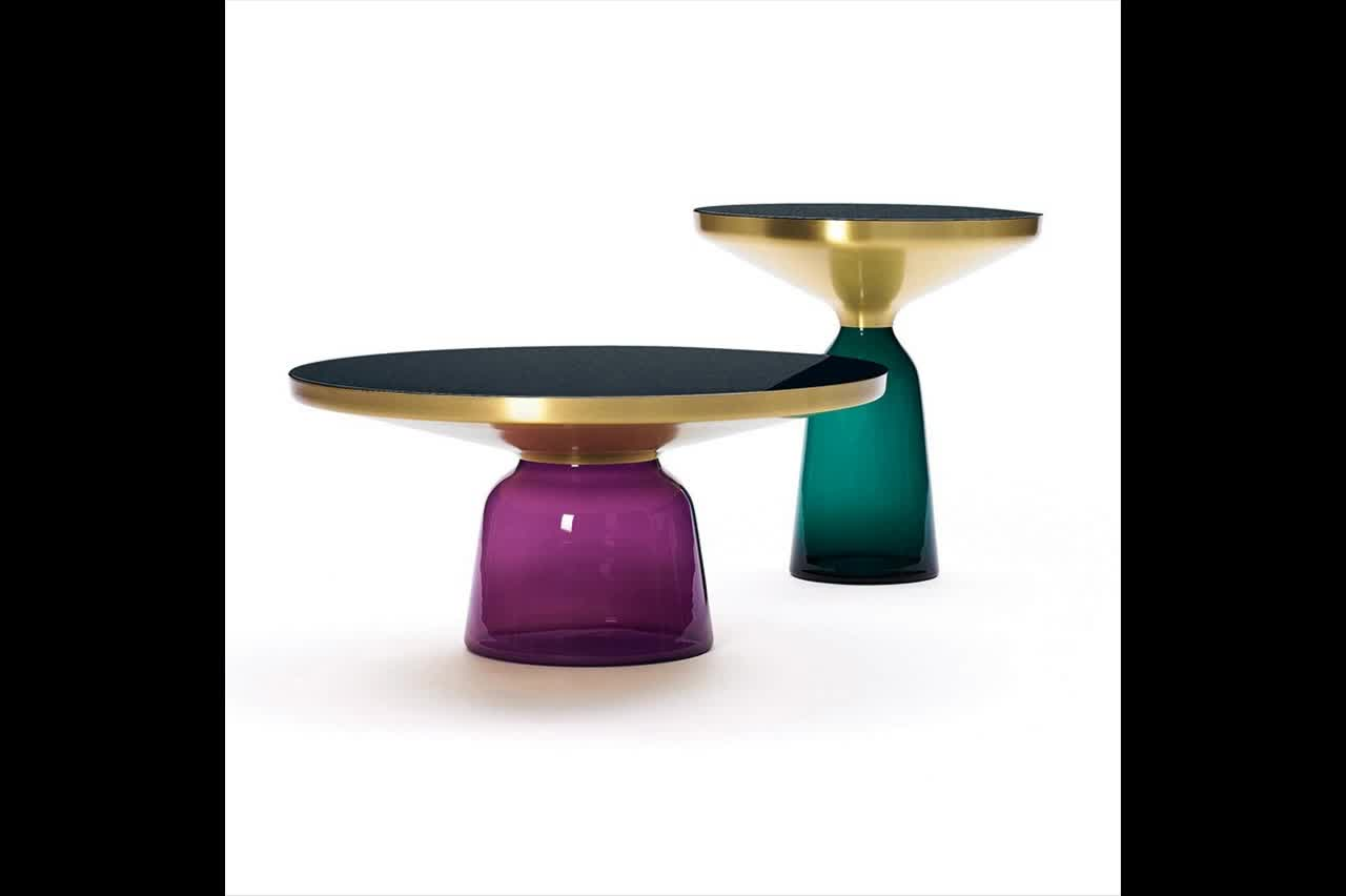 Design Replica Meubels : Replica designer furniture colorful glass bell side table by