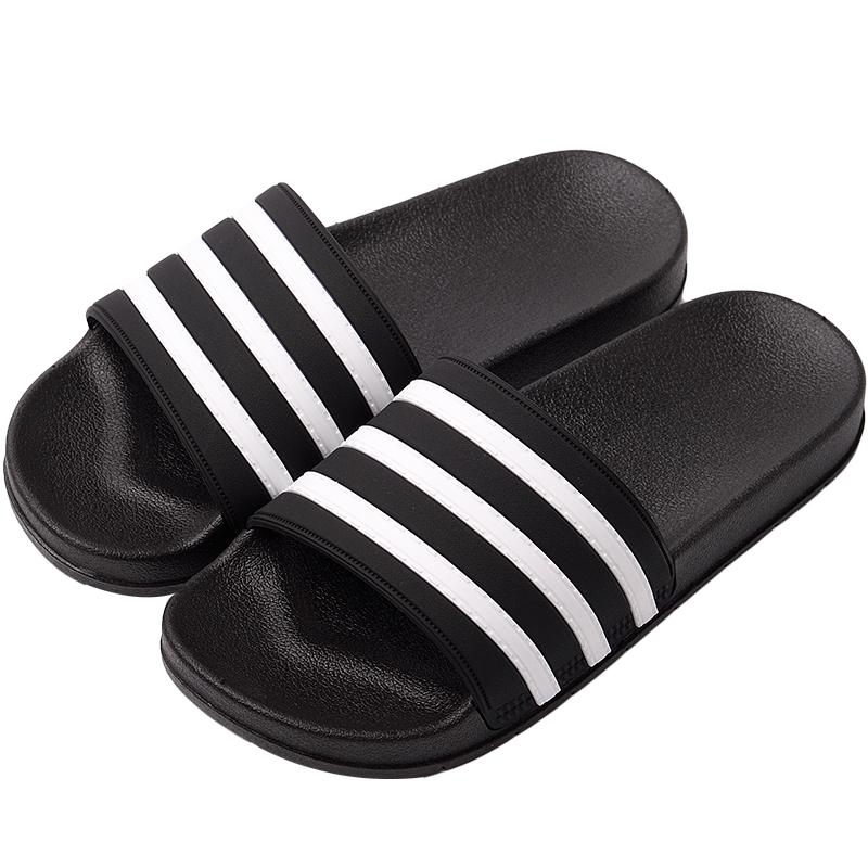 夏季室外穿时尚个性条纹情侣凉拖鞋网友评测分享