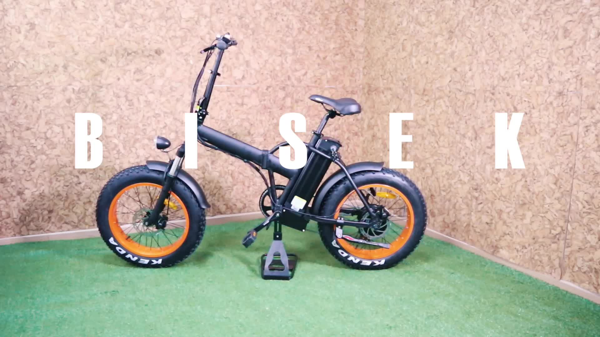Strong alloy frame electric bicycle small folding electric bicycle fat tire e bike