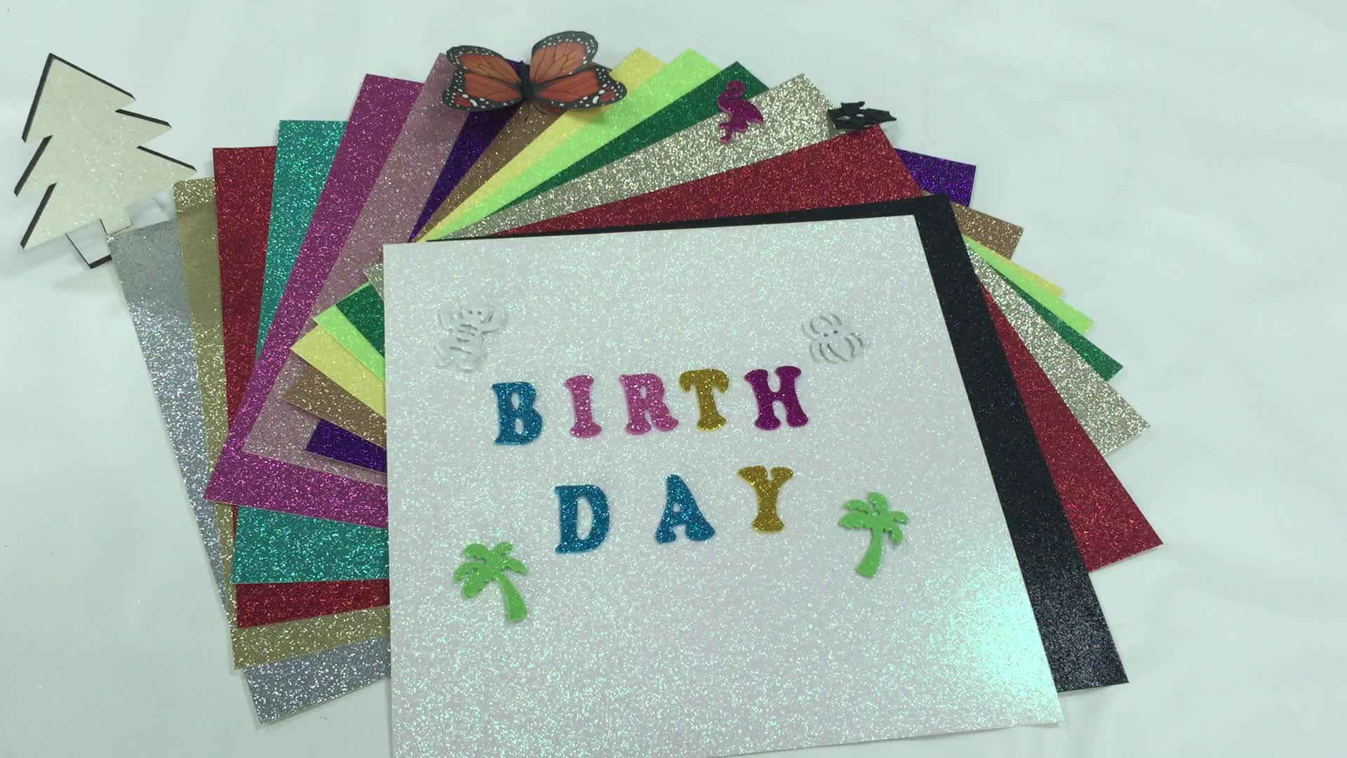 glitter cardstock paper craft paper for card making