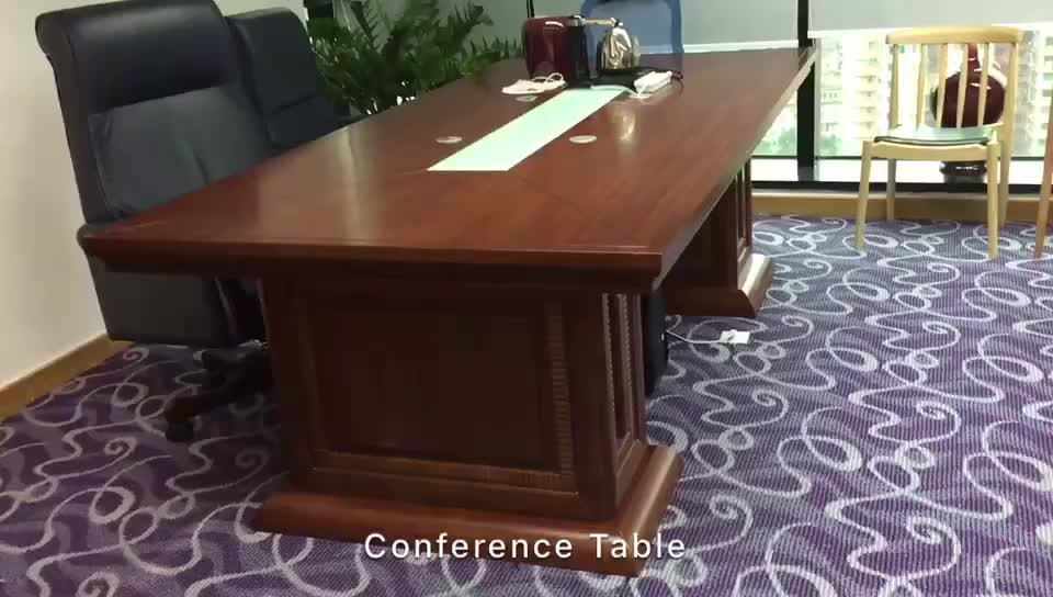 Modern malamine rectangular executive conference table for for 12 person conference table
