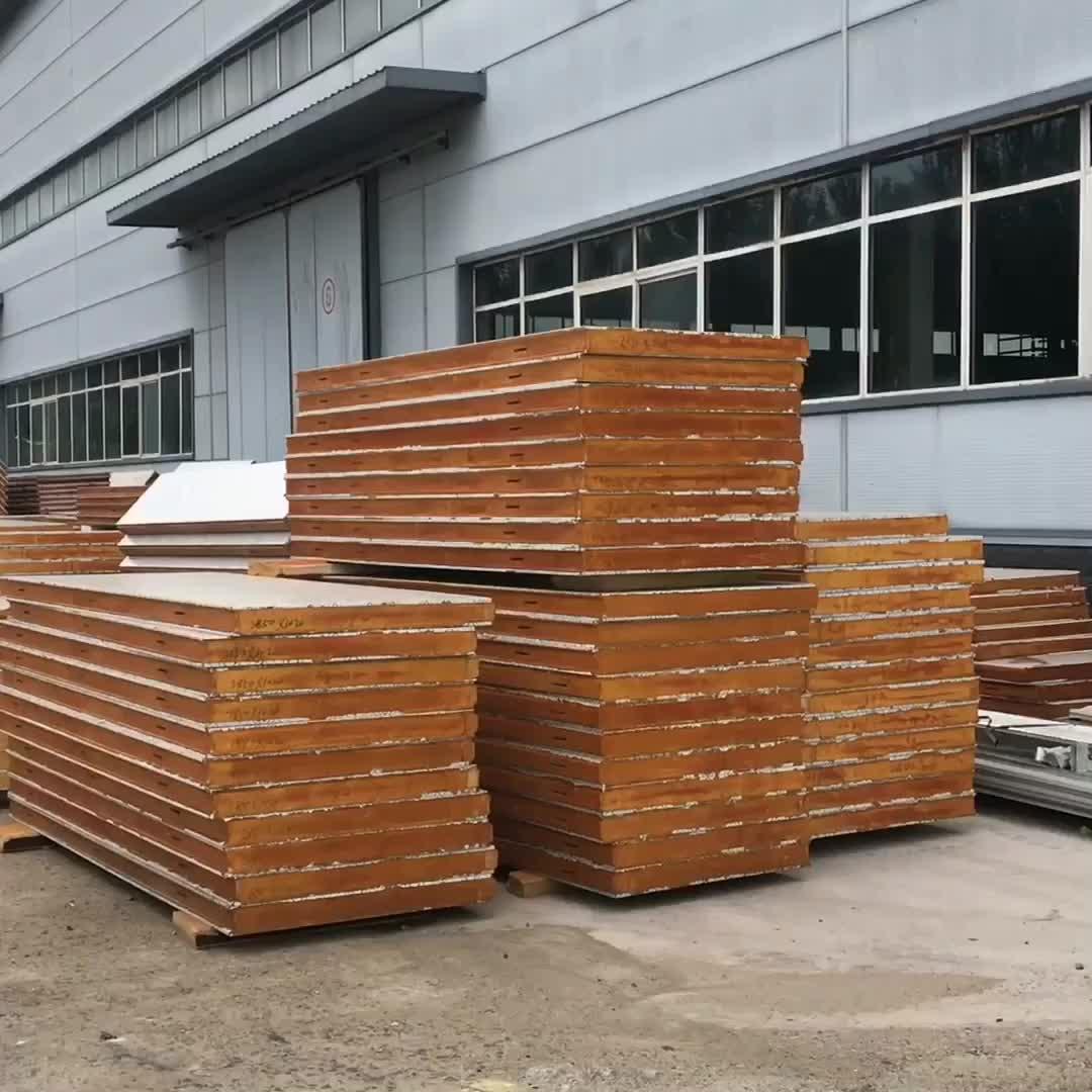 Liaoning Shenyang Zhongjie Pu Polyurethane Foam Insulation Exterior Wall Sandwich Panel Panels