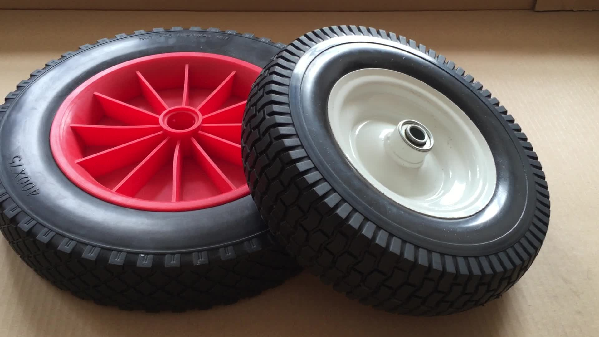 Polyurethane Foam Wheel Barrow Sand Tire