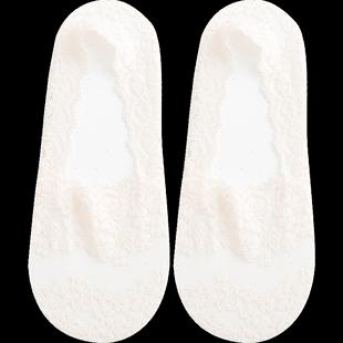 宝娜斯夏季蕾丝袜底硅胶防滑女棉袜