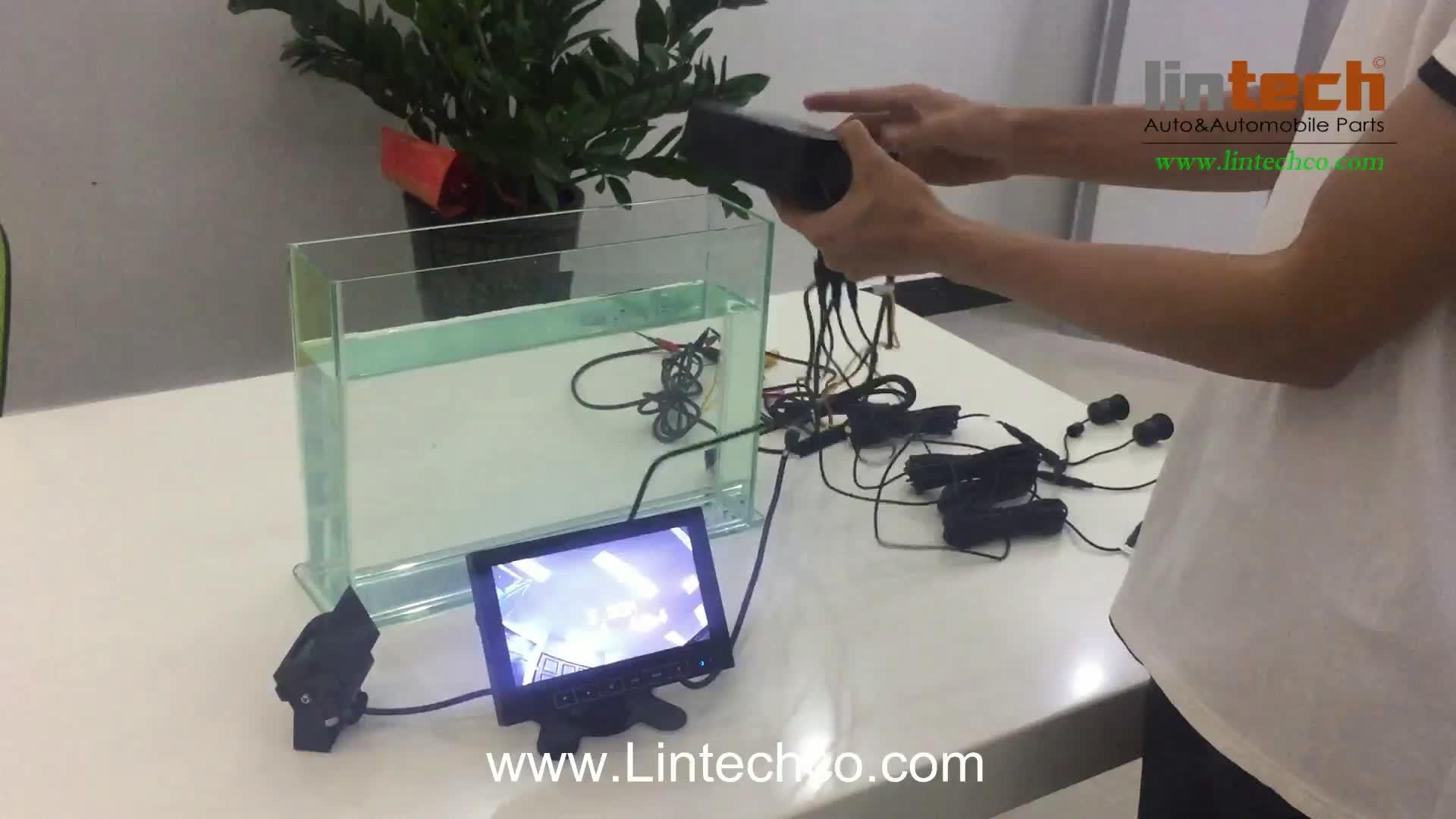 Lange Voertuig Parking Sensor 7 Inch Monitor Camera 3-5 Meter Lange Bereik Zoemer Parkeer Sensor Systeem prijs