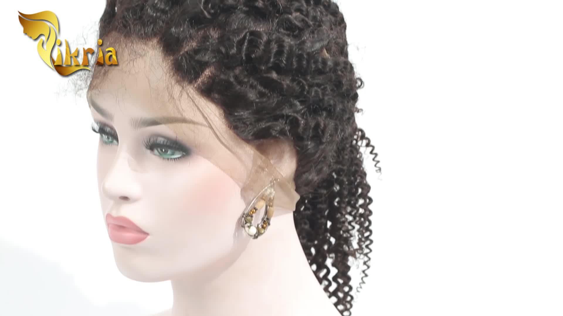 Commercio all'ingrosso cuticola allineati brasiliani parrucca anteriore del merletto dei capelli prime vergini dei capelli umani parrucche