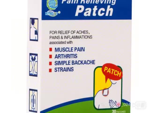 Anti-inflammatory muscle pain patch advanced adhesive relief for back