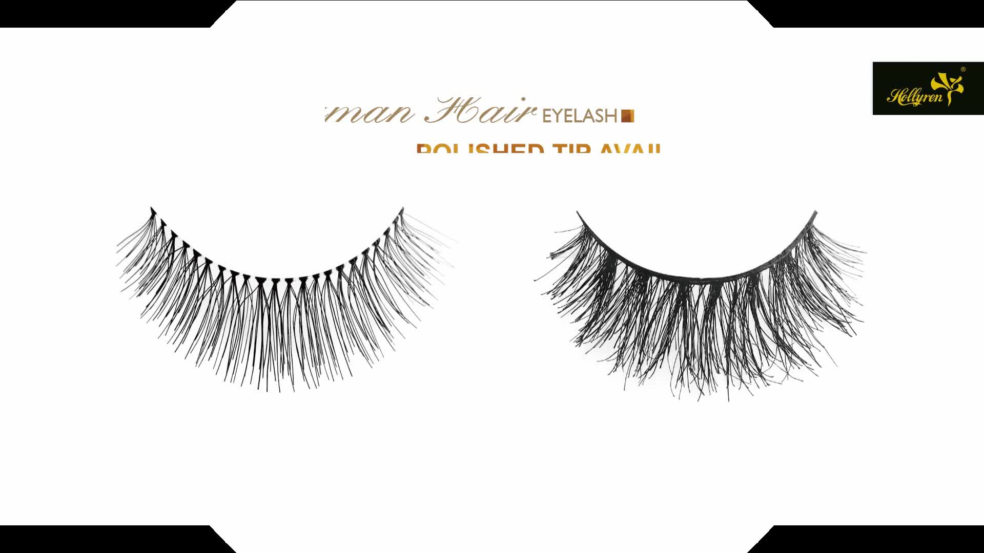 Private Label Natural 100% Human Hair Strip Eyelash