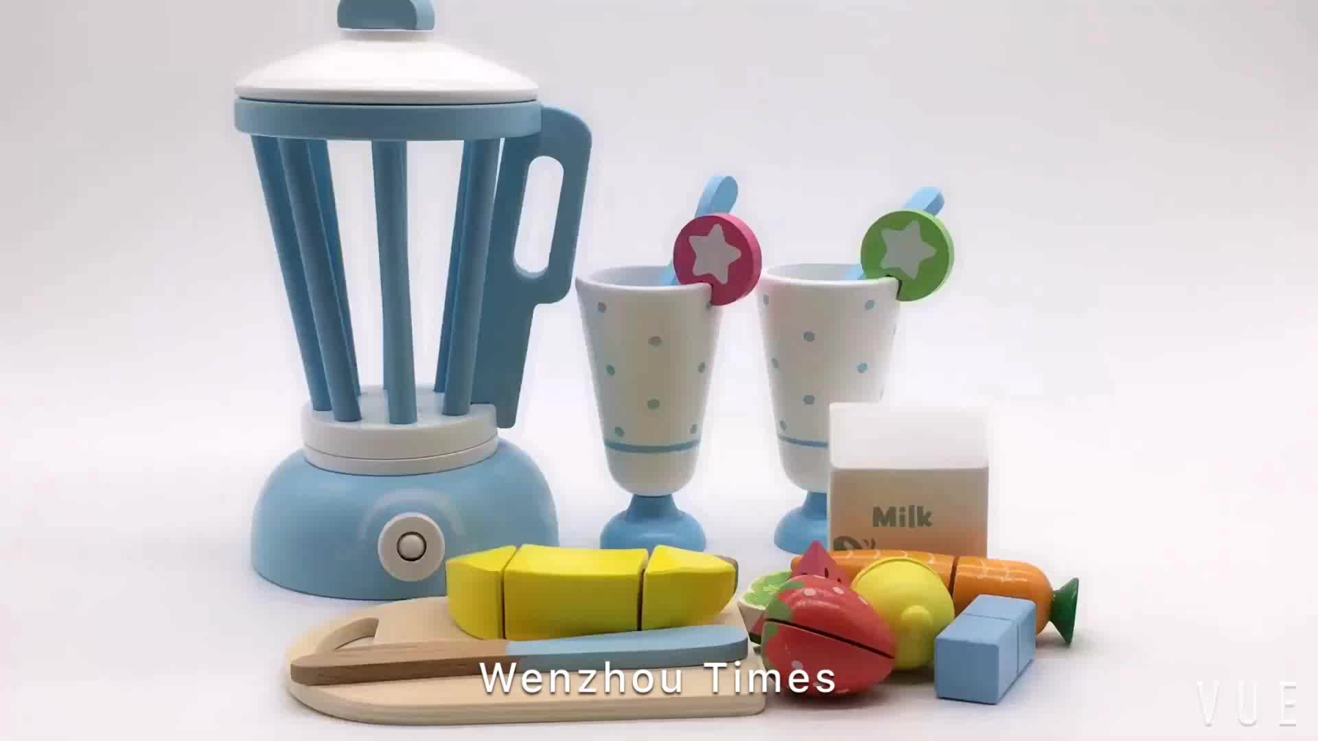 Wholesale Role Play Kitchen Toy Set Wooden Toy Blender For Kids ...