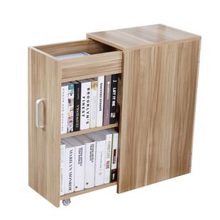 簡約現代抽屜式帶門小書櫃簡易書架收納儲物櫃邊角櫃子置物櫃包郵